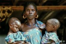Femme Enfants Burkina